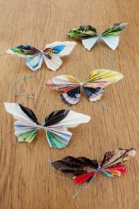 papillons upcycling