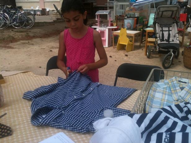 Fabrication de tabliers à partir de chemises