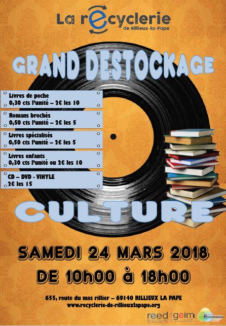 15cba1d2b021a8 Déstockage produits culturels – Recyclerie de Rillieux-la-Pape