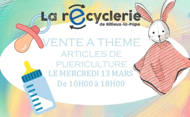 AFFICHE RECYCLERIE VENTE PUERICULTURE 13 03 2019